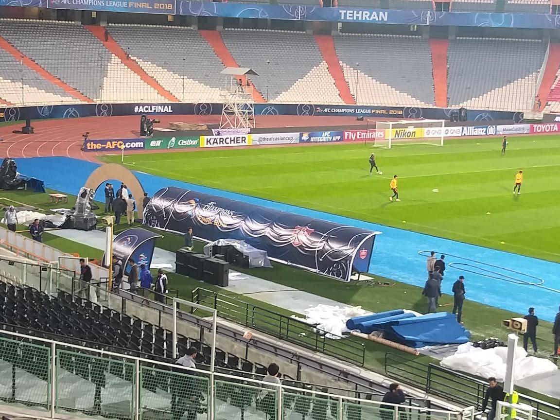 آخرین تمرین تیم فوتبال کاشیما ژاپن در استادیوم آزادی برگزار گردید