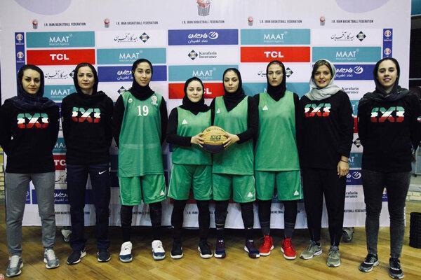 ترکیب تیم بسکتبال سه نفره بانوان برای جام جهانی اعلام شد