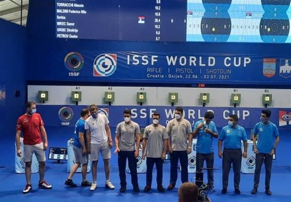 جام جهانی تیراندازی، مدال برنز برای تیم تپانچه بادی مردان